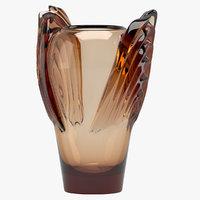 3D rene lalique marrakech vase