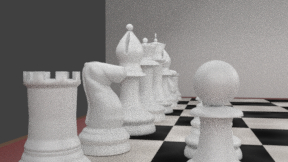 3D black chess set model