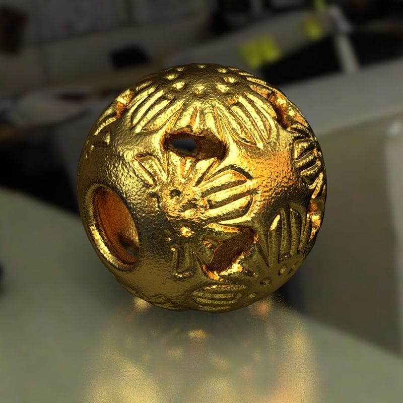 jewelry v1 ball pa 3D model