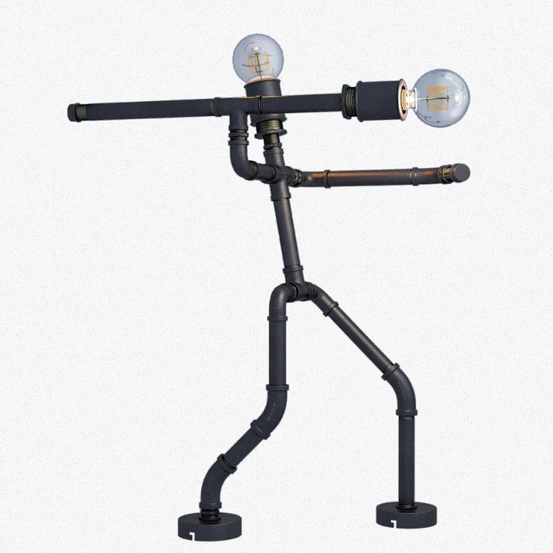pipe lamp spear thrower model