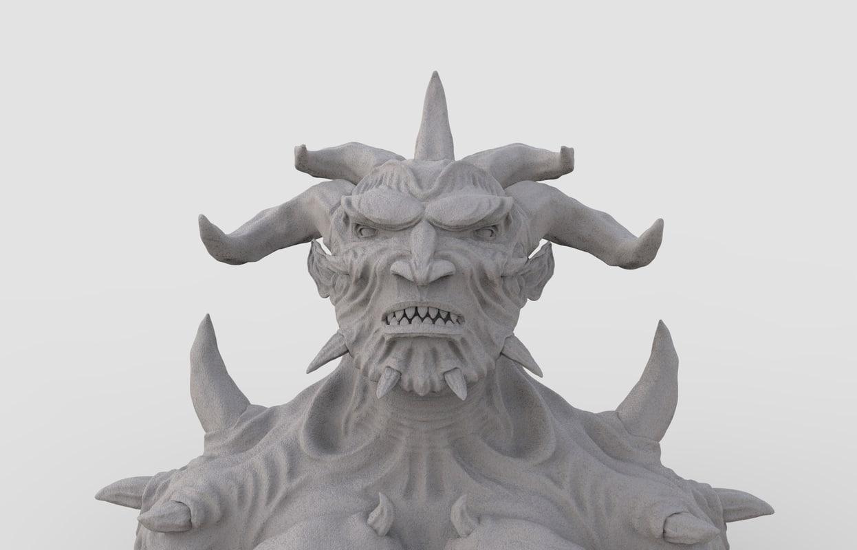 3D character demon model