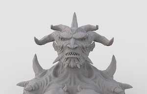 3D character demon model