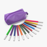3D model felt-tip pens