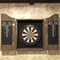 dartboard prop 3D model