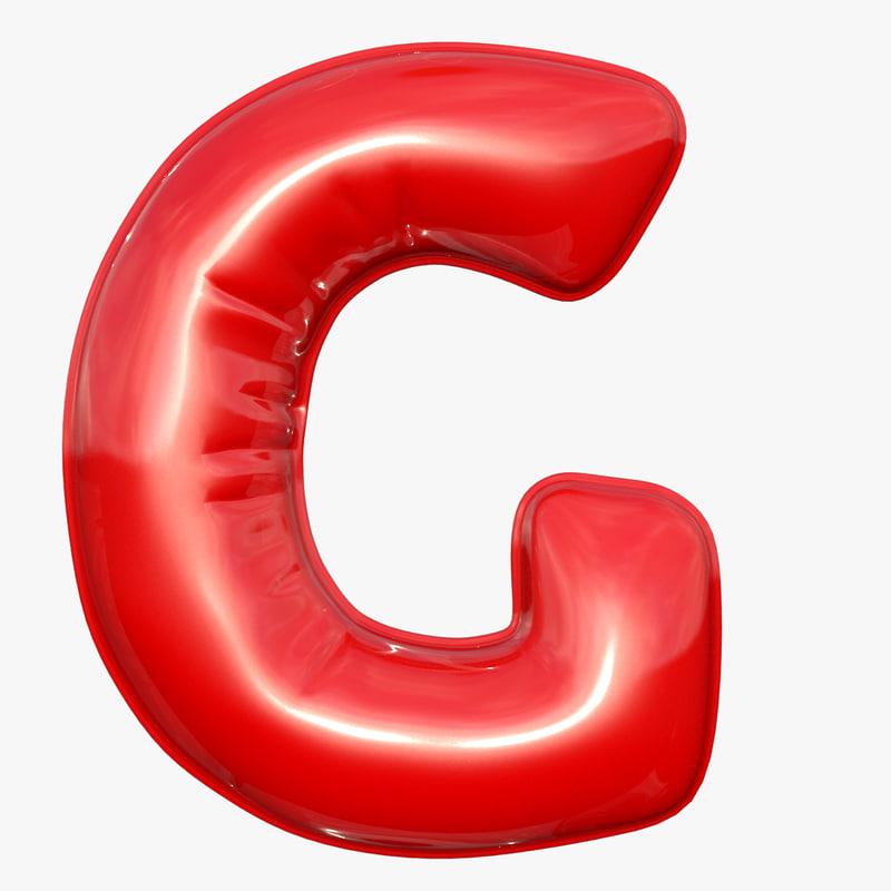 foil balloon letter g model