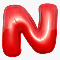 foil balloon letter red model