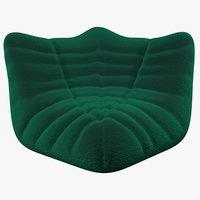 3D velvet sofa