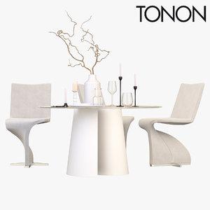3D chair table