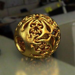 3D jewelry charm pa d14se8632 model