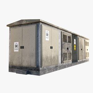 3D concrete transformer station