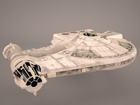 yt-2400 falcon space ship model
