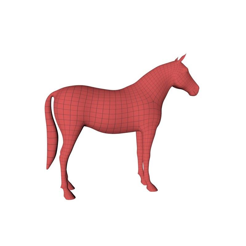 base mesh horse 3D model