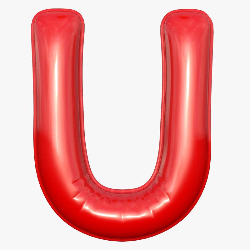 foil balloon letter u model