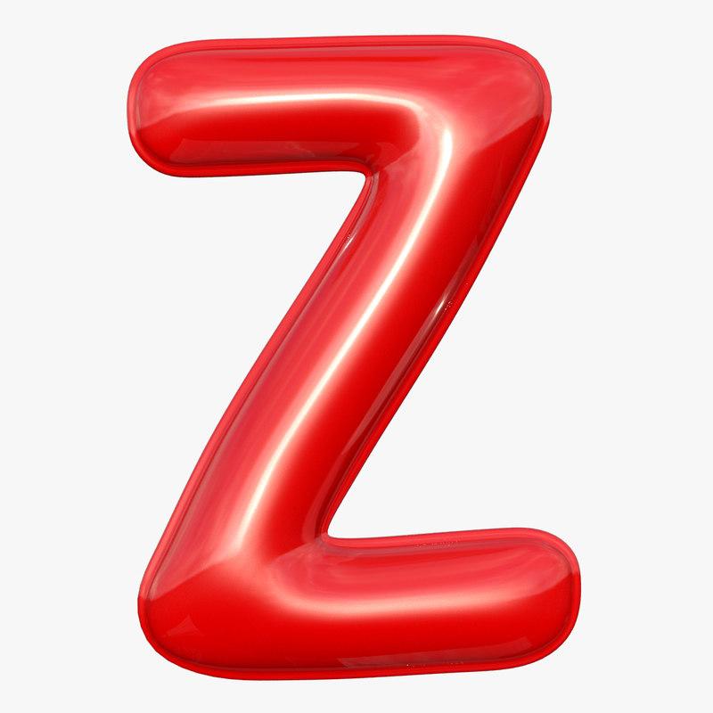 3D foil balloon letter z