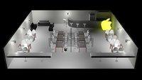 restaurant 3D model