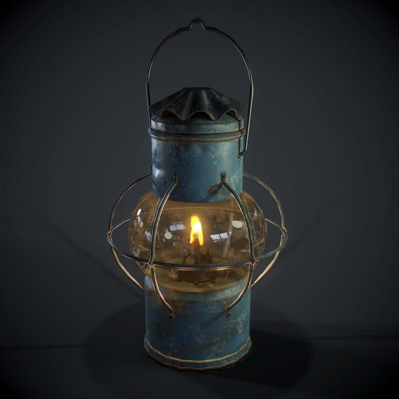 pbr oil lantern model