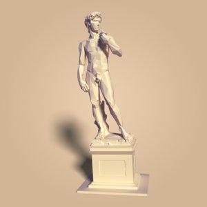 david statue 3D
