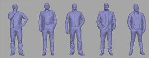 men backgrounds games 3D model