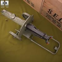 maxim gun 1910 3D model