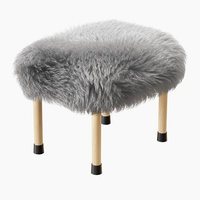 3D wool nerys sheepskin footstool