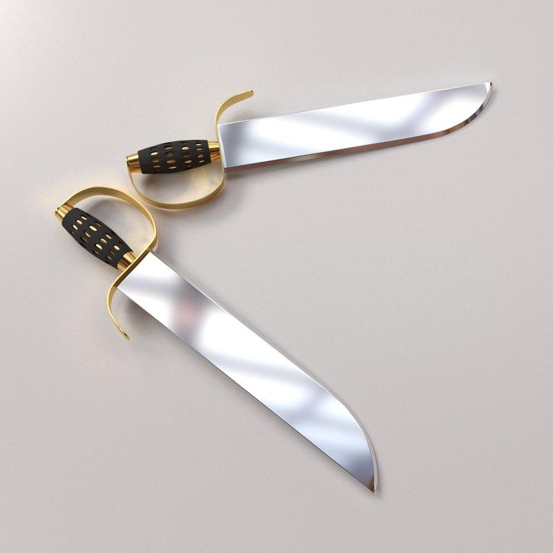 3D butterfly sword