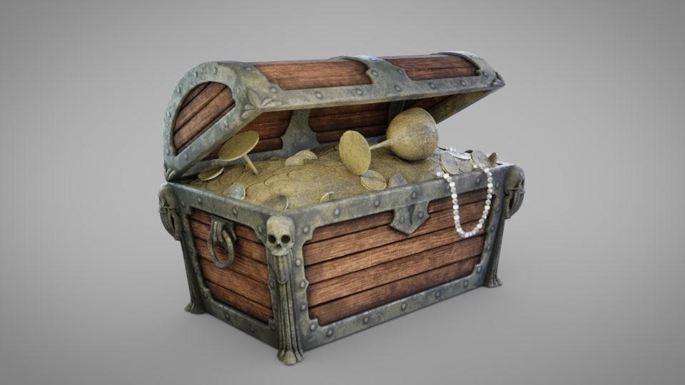 3D model treasure islands