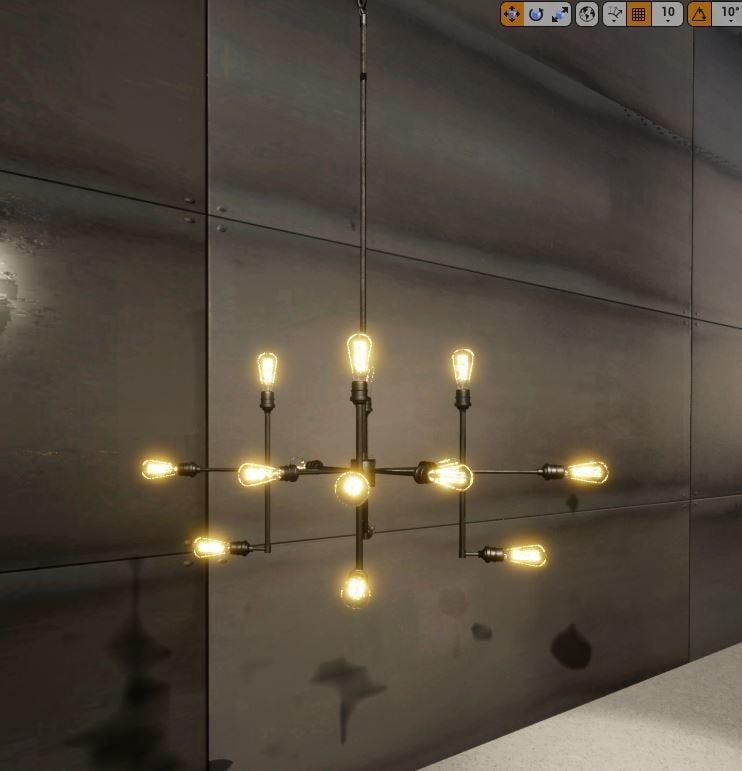 3D edison bulb chandelier