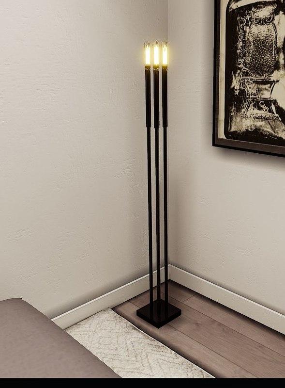 3D floor lamp modern edison model