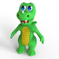 3D dragon cartoon model