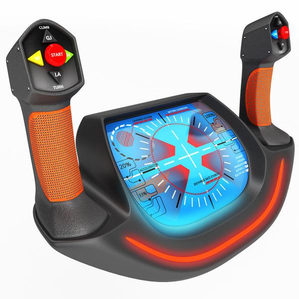 3D handwheel control knob model