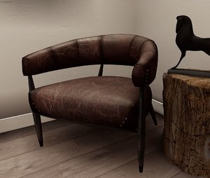 leather arm chair 3D