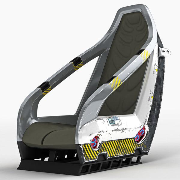 3D universal pilot seat model