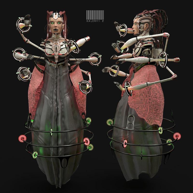 android kalery robot dancer 3D