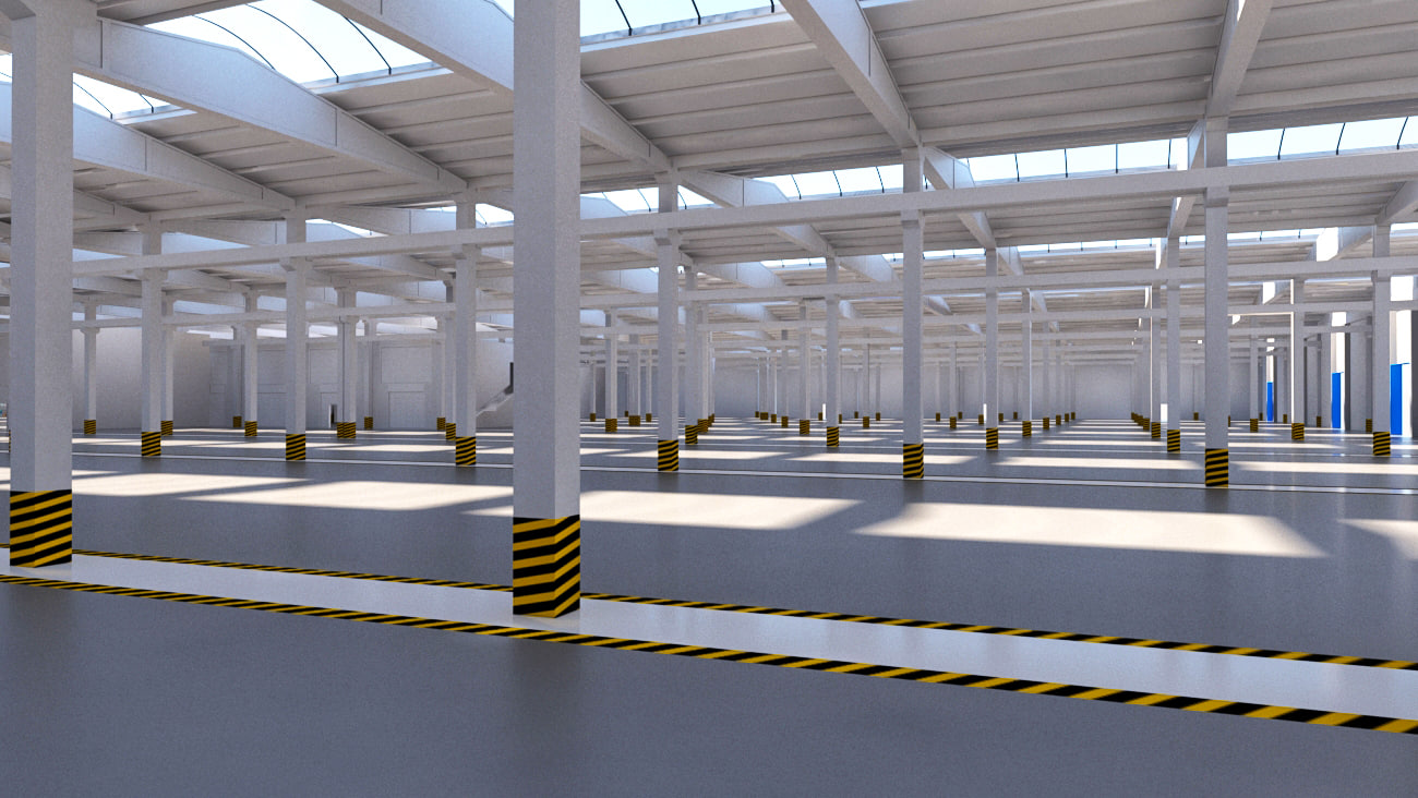 warehouse storage factory 3D model