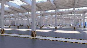 warehouse storage factory 3D model