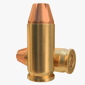 cartridge 45acp bullet 02 3D