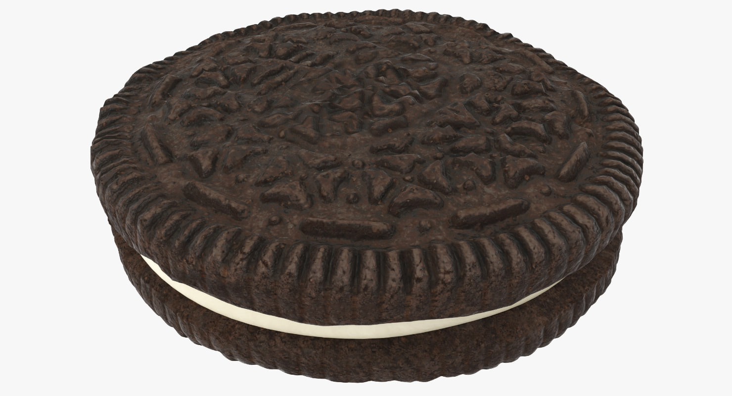 3D model chocolate sandwich cookie