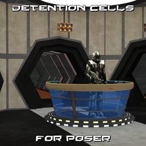 detention cell poser 3D