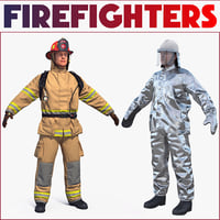 Firefighters 3D Models Collection