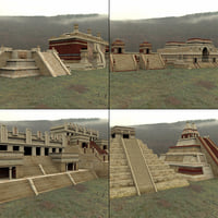 mayan city buildings daz 3D model