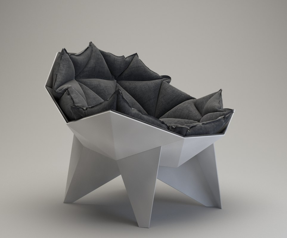 3D q1 lounge chair