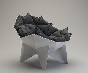 3D q1 lounge chair