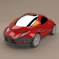 3D futuristic concept cars
