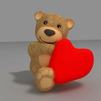 3D teddy bear