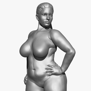 curvy female 3D model