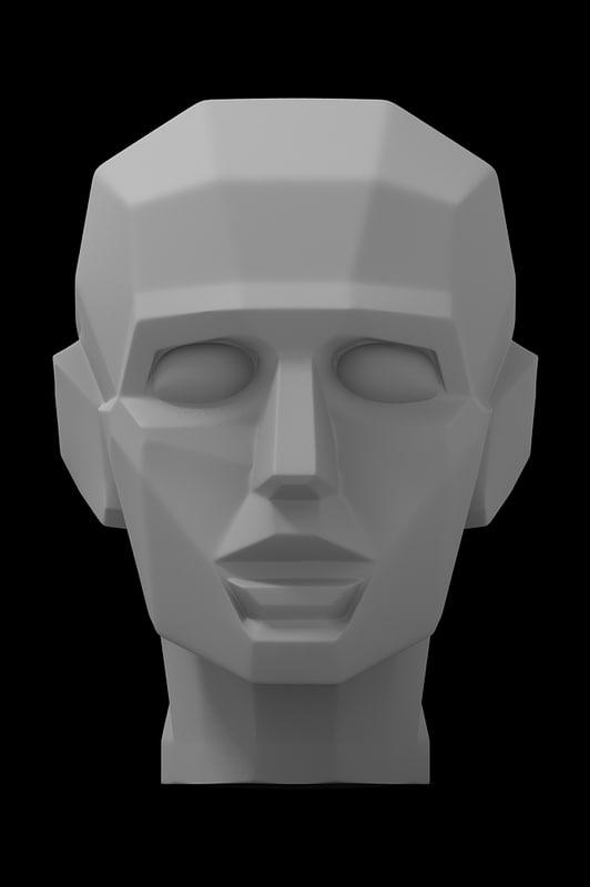 3D model gypsum head