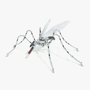 3D sci-fi mosquito robot concept