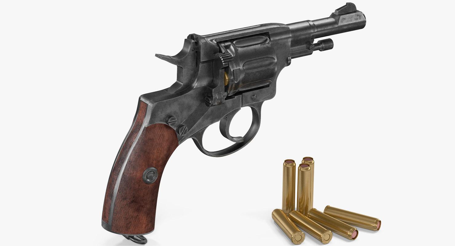 3D shortened nagant revolver