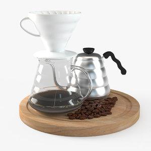 3D v60 coffee drip hario