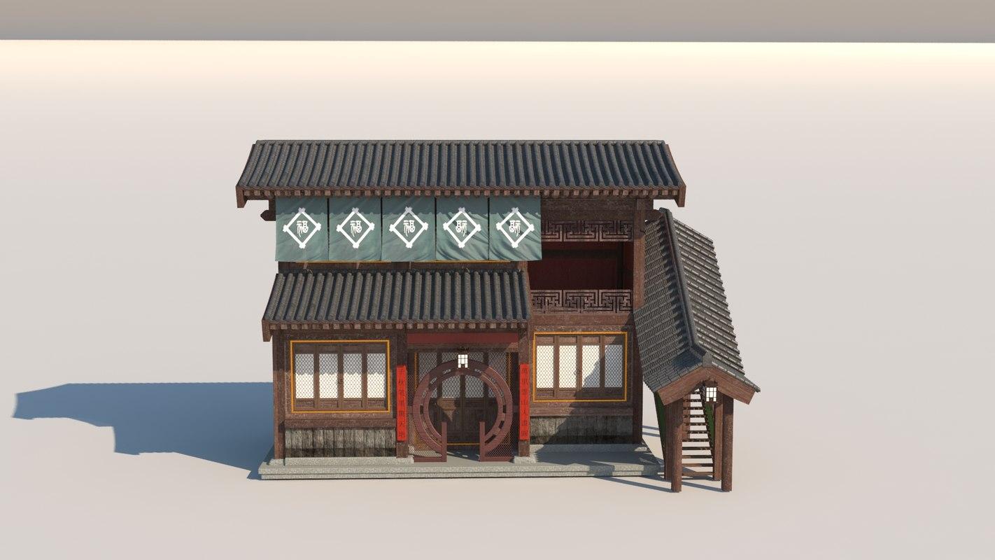 china classic house 3D model